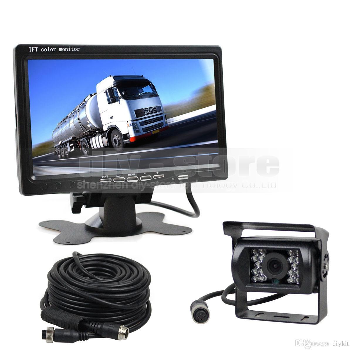 7 인치 TFT LCD 자동차 모니터 후면보기 모니터 + 버스 하우스 보트 트럭에 대 한 4pin IR 나이트 비전 HD 후면보기 카메라