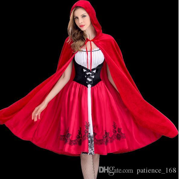 Halloween New Fashion Women Little Red Riding Hood Clothing Adult