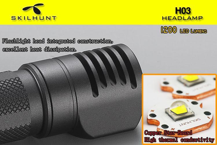 Nitecore r40 LED Lampe de poche CREE xp-L Hi v3 1000 Lumen avec d/'induction ladesc