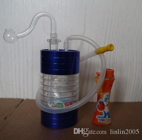 Vendita calda Accessori per fumatori Narghilè acrilico in acciaio inossidabile di alta qualità