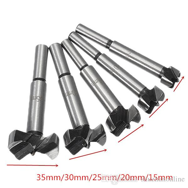 5Pcs 15-35mm Forstner Drill Bits Set Hinge Hole Cutters Woodworking Hole Saw Cutters