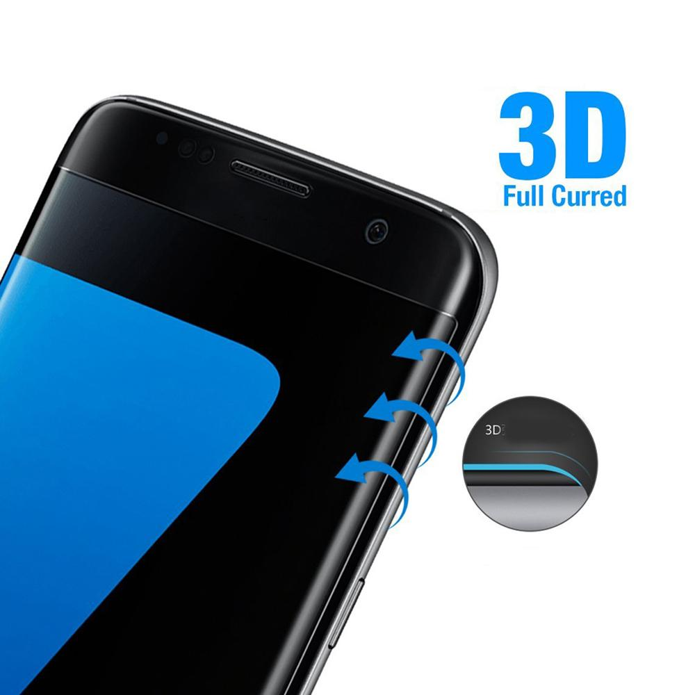 3D Curved Full Cover Tempered Glass Protective Film for Samsung Galaxy S7 Edge Screen Protector Cover