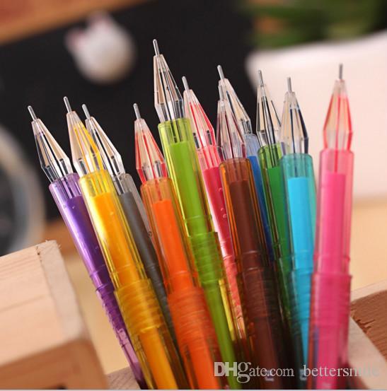 Venta al por mayor pluma de gel envío gratis120pcs \ lot Fresco y simple color caramelo pluma neutra 12 color pluma de agua creativa o.5mm 057
