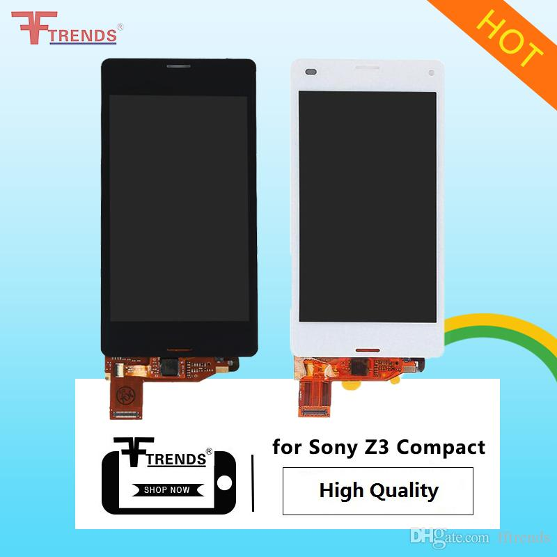 High Quality for Sony Z1 Compact / Z3 Compact / Z5 Compact LCD Display & Touch Screen Digitizer with/without Frame Black White Free Shipping