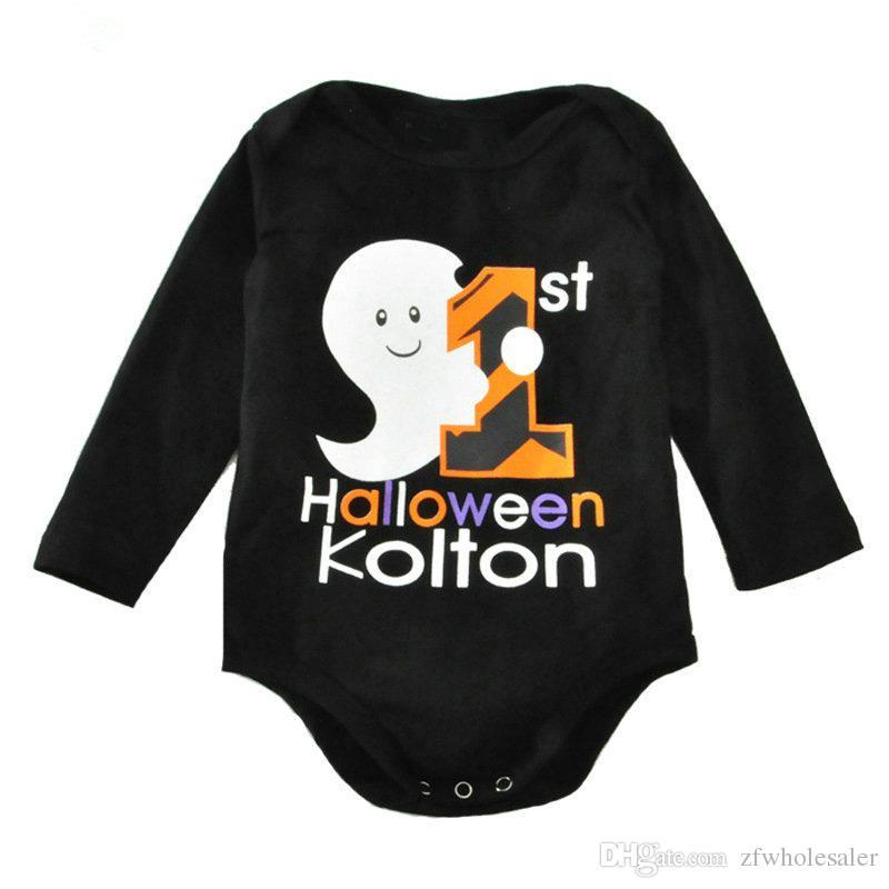Halloween Pumpki Baby Romper Set Toddler Outfit Infant Shirt Kids Fancy Clothes Children Boutique Clothes Unisex Cotton Onesies One-Piece