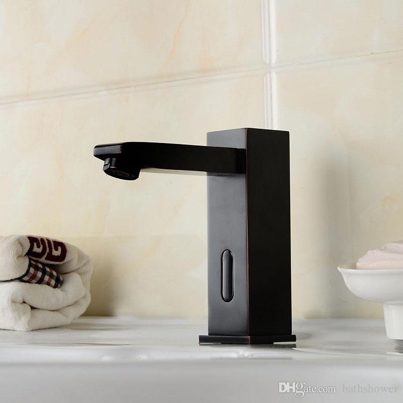 Discount Brass Washbasin Faucet Automatic Sensor Faucet Single Cold ...
