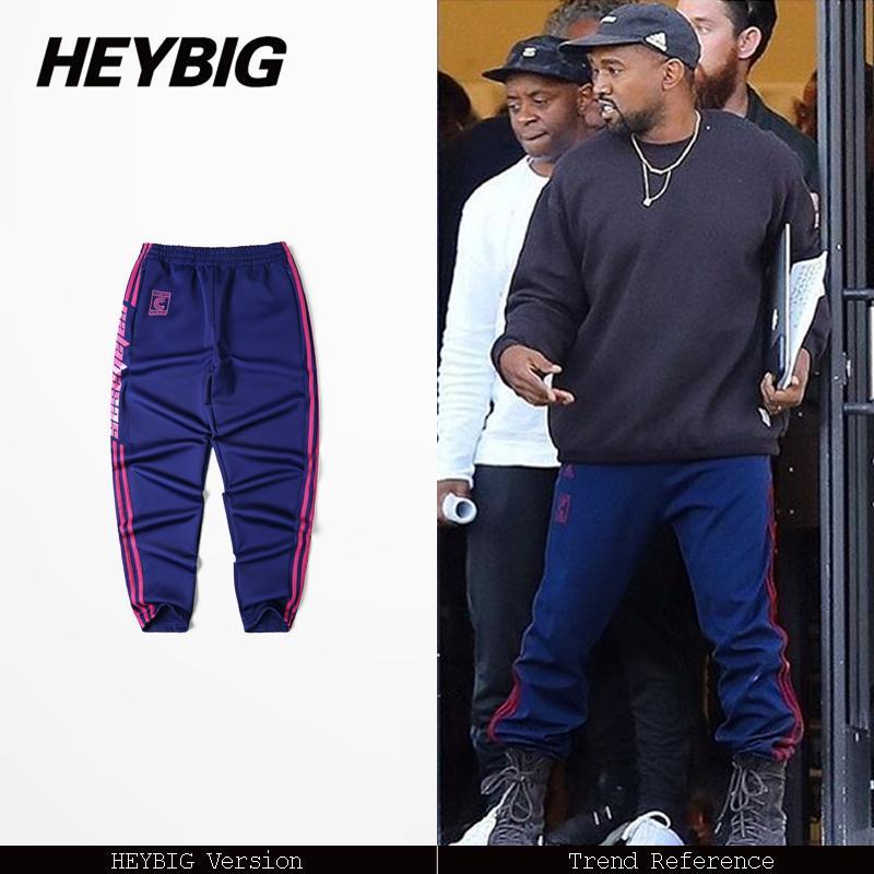 Pantaloni casual da uomo Pantaloni sportivi Stagione 4 Pantaloni Cuffed Pantaloni a strisce Calabasas Joggers Asian Size Nuovo stile caldo