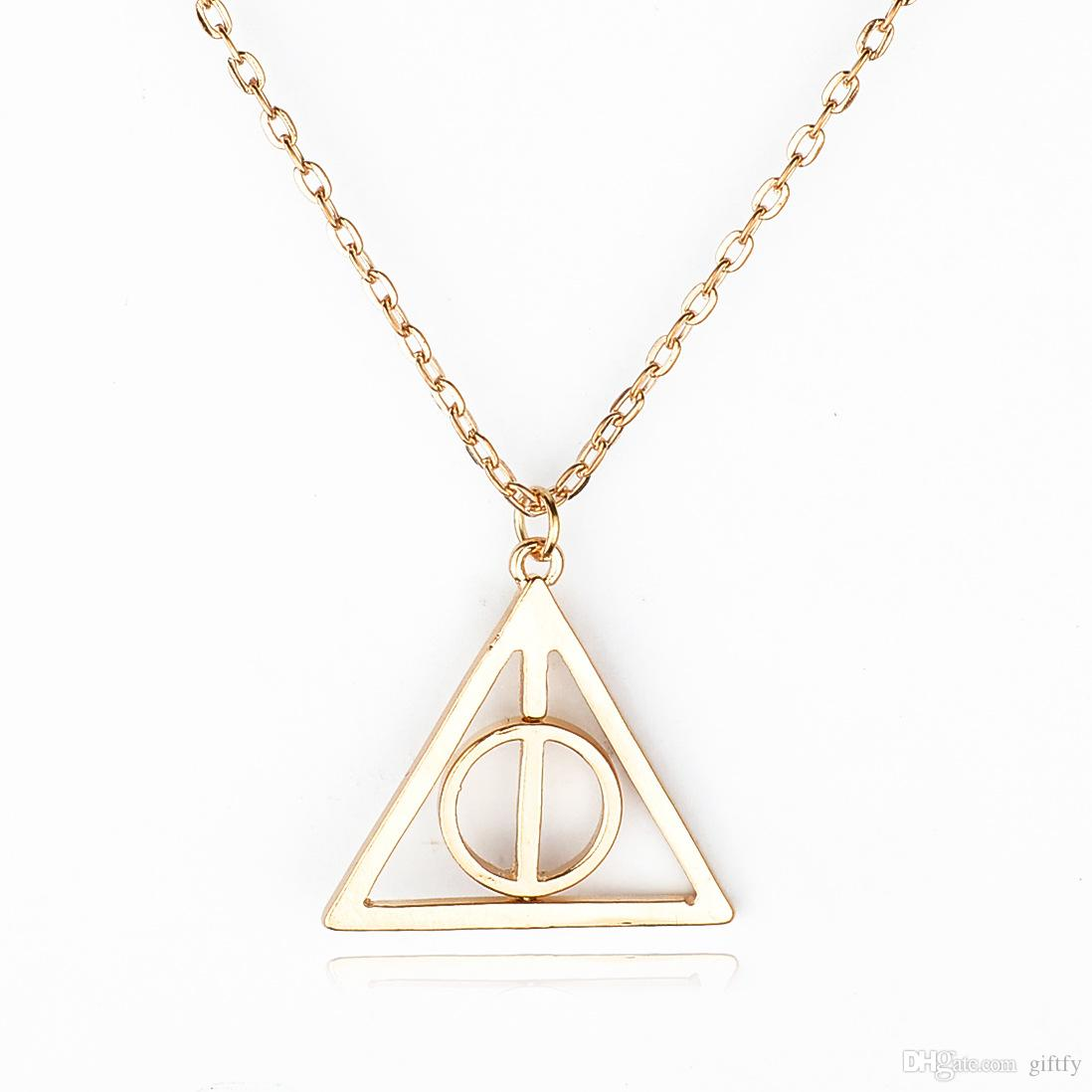 Wholesale Harry Potter and the Deathly Hallows Rotatable Pendant Necklace