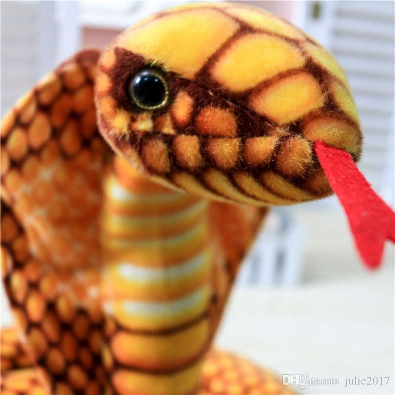 2.3M Big Stuffed Animal Simulation Gold Cobra Snake King Plush Toy Tricky Doll Christmas Gift