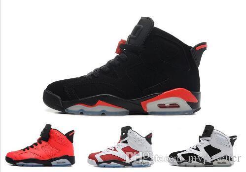Бесплатная доставка 2017 горячий новый 6 дешевые баскетбольные кроссовки олимпийский красный черный инфракрасный кармин кроссовки спортивная обувь для онлайн продажи