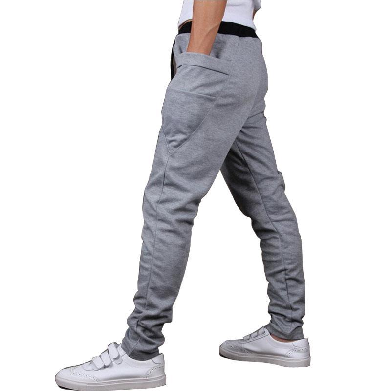 Gros-2015 Marque Nouveau mode Marque Sweatpants Pantalons Hommes Pantalons Sweat Pantalons Harem, hommes Big Pocket Design Homme Cargo Joggers M ~ XXL