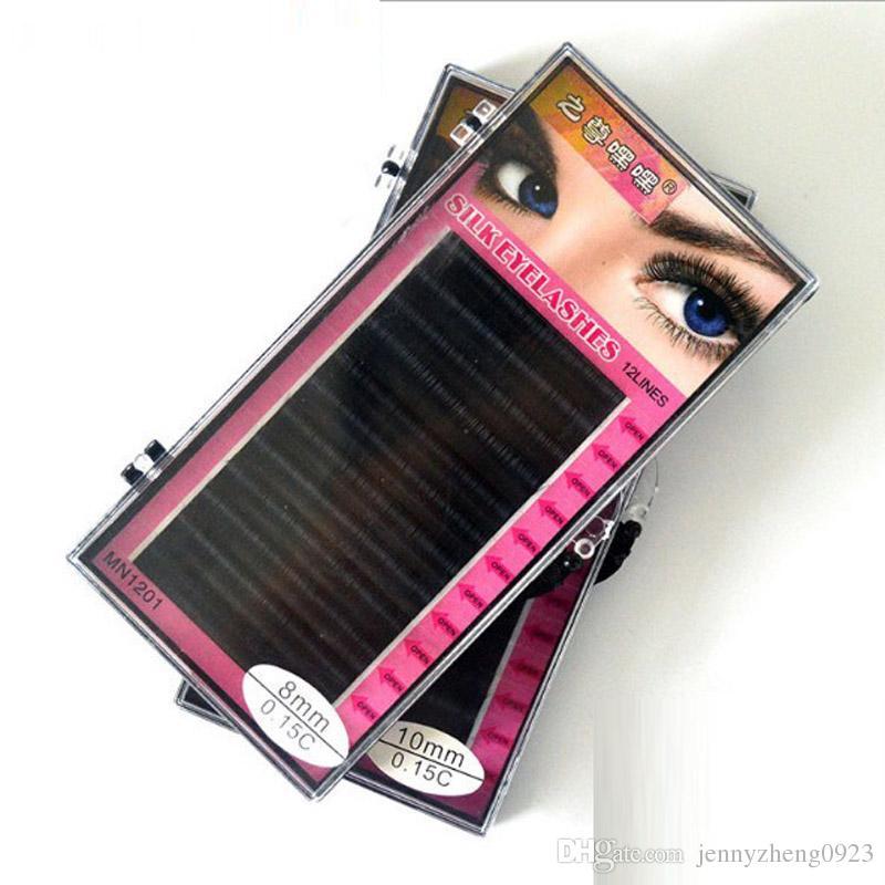 0.07 C 8mm 12mm Individual Eyelash Extension High Quality Natural False Mink Eyelash Extension Free Shipping