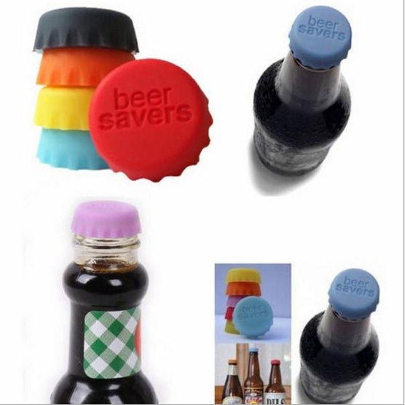 6 pcs / set 3,2 centímetros Silicone Beer Bottle Cap silicone coloridas aferidores garrafa de vinho Rolhas de vazamento de vinho grátis para Cap Red Wine Bottle