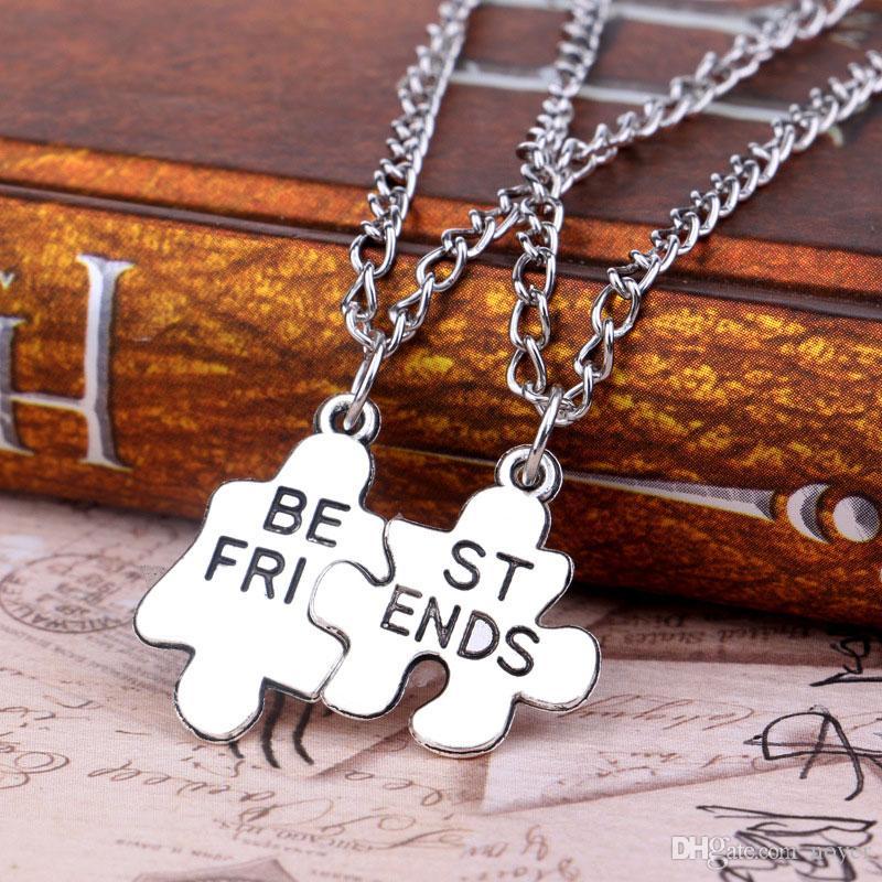 Amistades y collares pendientes de amistad de estilo europeo y americano, enlace de cadena, colgantes, accesorios de joyería para mujeres y hombres