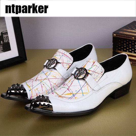Nuovo arrivo LUXURY stile italiano scarpe bianche appartamenti uomo moda in pelle scarpe a punta uomo partito scarpe oxford, grandi dimensioni EUR38-46, US6-12!