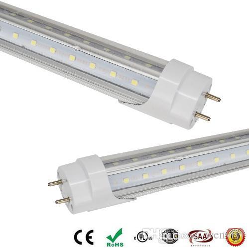 T8 светодиодные трубки свет V-образный двойной накал обе стороны 4ft 28w 1.2м G13 LED люминесцентная лампа AC85-265V CE UL RoHS