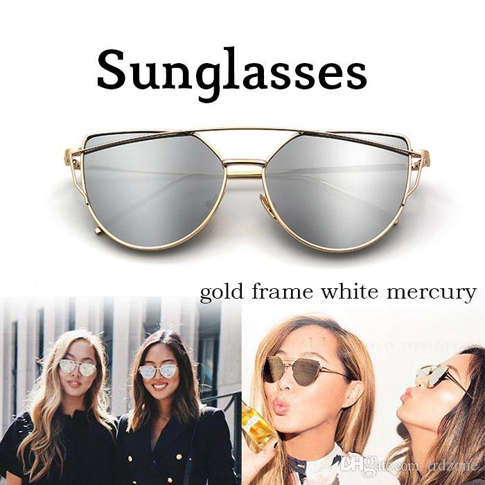 14168fee5920 Vintage Lady Rose Gold Cat Eye Sunglasses Women Brand Design Twin Beams  Optical Eyeglasses Frame Men Sun Glasses For Female Sunglasses Shop Bolle  Sunglasses ...