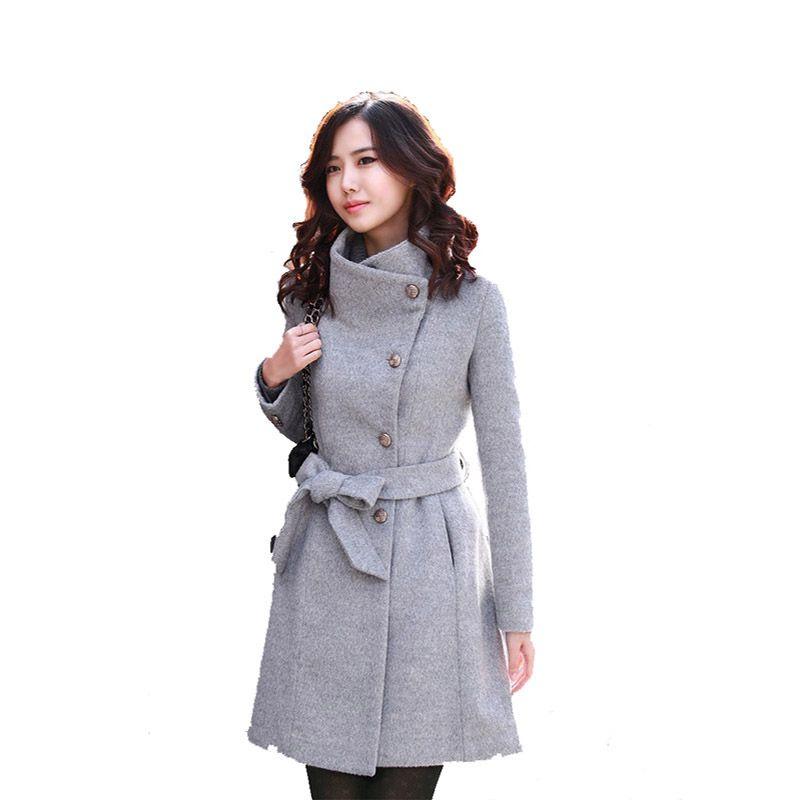 المرأة الصوفية القطن سترة الشتاء الدافئة زائد أحجام معاطف للسيدات أزياء أنيقة مكتب المرأة معطف