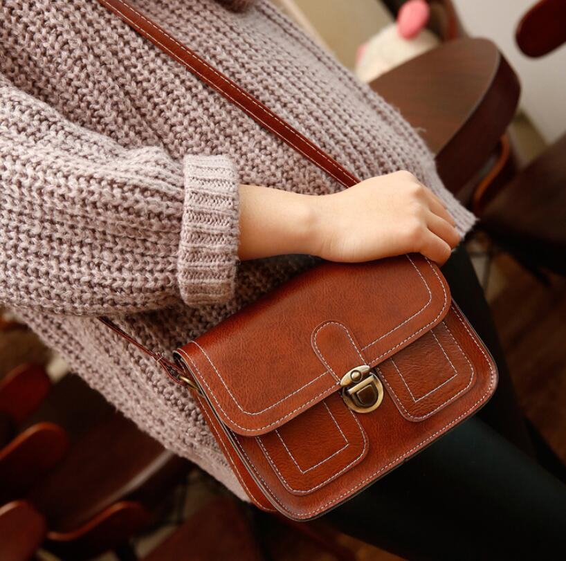 Vintage Flap Women Shoulder Bags Lady Girls Phone Camera Small Bags Cross Body Messenger Bags 11 Colors 16*20*7cm