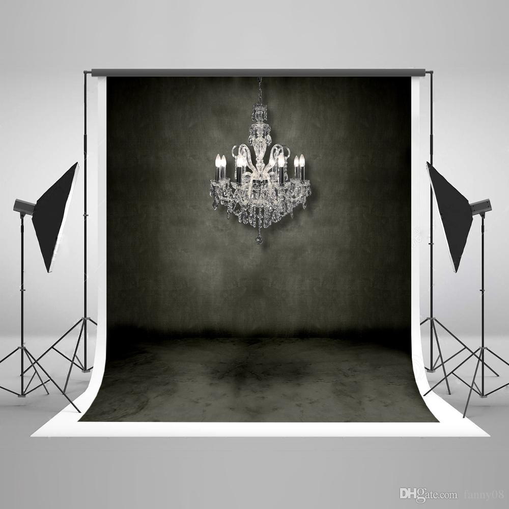 Kate no rugas retro parede de tijolo preto photo studio fundo branco candelabro crianças fotografia backdrops