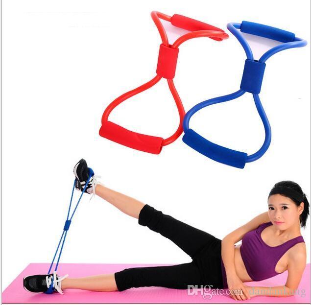 Fit Vereinfachen Widerstandsschleife Übungs-Bänder nach oben ziehen die Muskeln kräftigen 8 Form Schlingenbänder Bodybuilding Fitnesseinrichtung Werkzeug