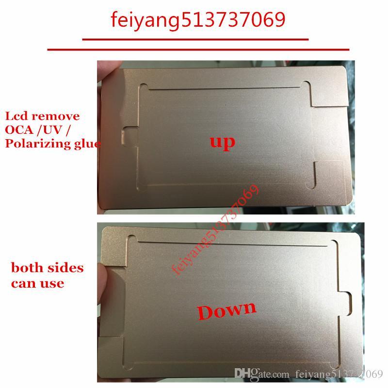 1pcs for iphone 7 6 6s 6s plus 7P 6P 4 4s 5 c 5s LCD remove adhesive UV glue clean mould holder OCA Mold remove Polarizing film Repair Tools