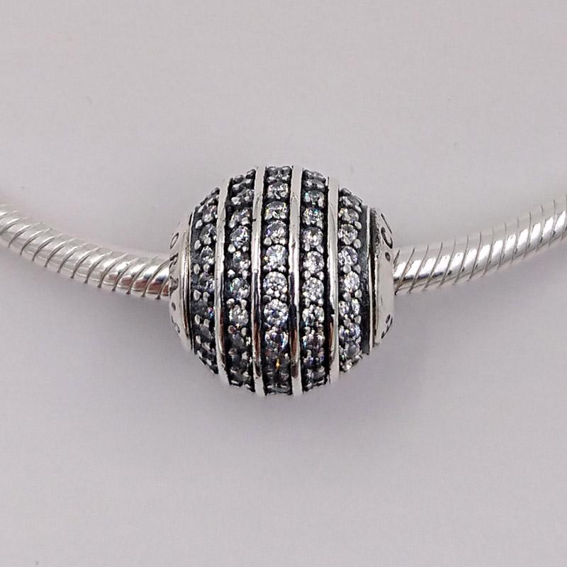 Autentico 925 perline in argento sterling perline Fiducia Charms Adatto a Bracciali europei Bracciali per gioielli in stile Pandora 796022CZ