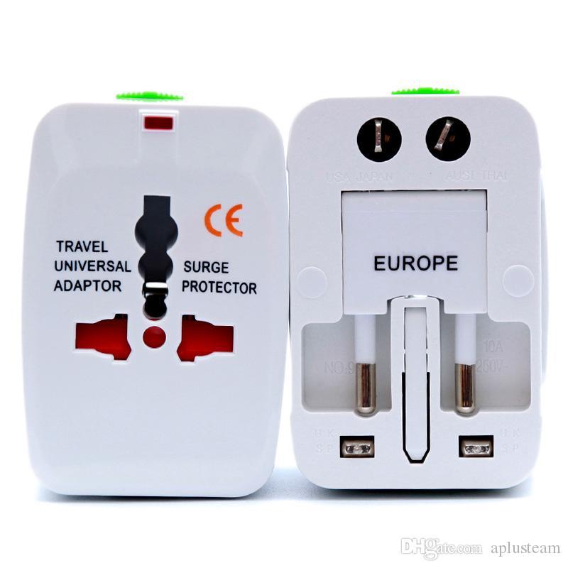 Tout-en-un Voyage Adaptateur Universel Adaptateur international Chargeur secteur AU US UK Convertisseur Prise d'alimentation électrique avec 1 double port USB