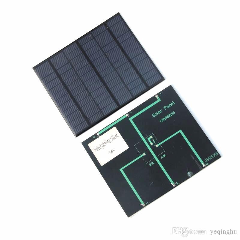 18 в 3.5 Вт поликристаллический солнечный модуль панели солнечных батарей для зарядки 12 В батареи DIY Солнечное зарядное устройство 165*135*3 мм бесплатная доставка