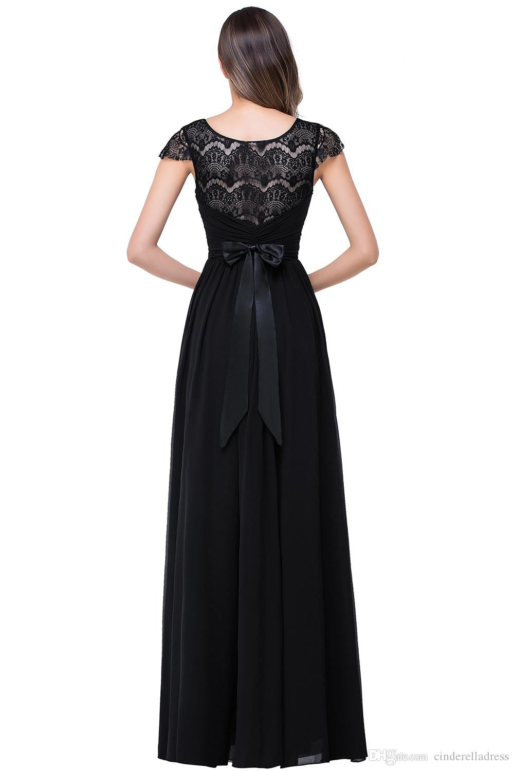 Cheap 2017 navy blue bateau sheer lace long cheap bridesmaid 2017 navy blue bateau sheer lace long cheap bridesmaid dresses cap sleeves floor length evening dress ombrellifo Image collections