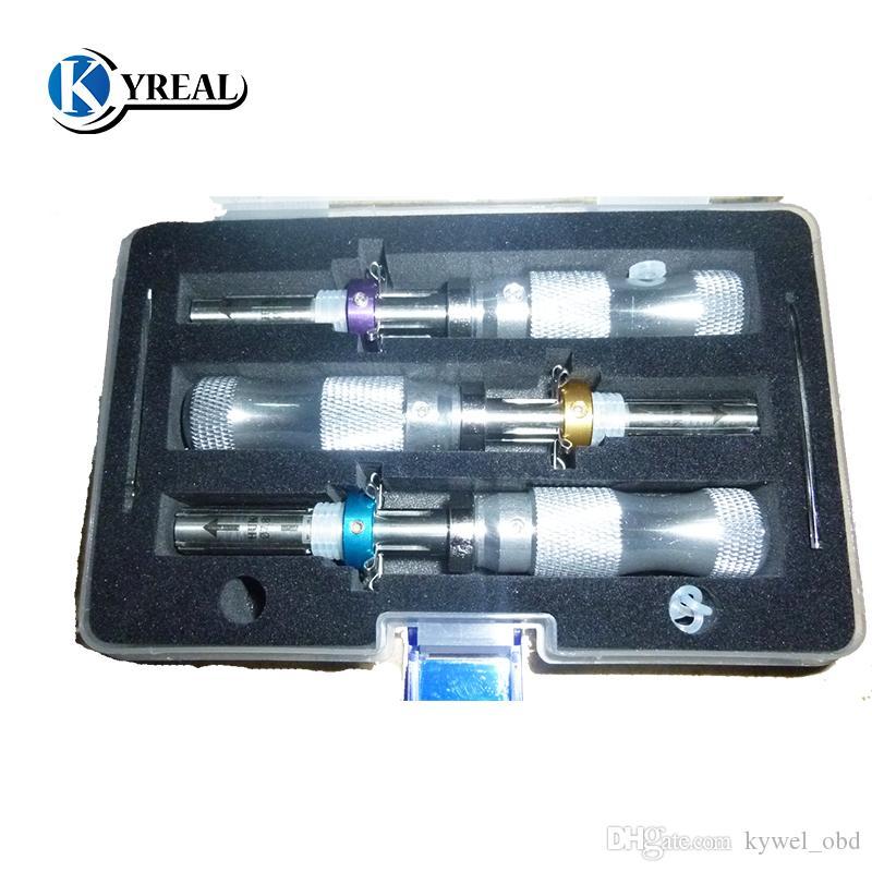 HUK 3pcs / set 7 Pin Tubular Erweiterte Dietriche 7,0mm, 7,5mm, 7,8mm Verlängerte öffnen LOCKSMITH TOOLS Freeshipping