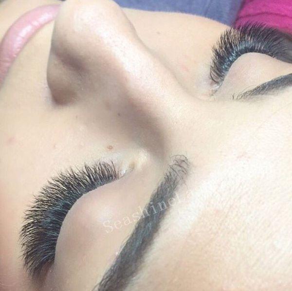 New Natural Long Black Individual False Eyelashes 6pcs/Cluster Eye Lash Extension Makeup Tool 60 Knots 5 Trays lot