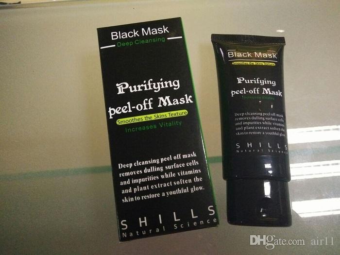 Shills Derin Temizlik Siyah Maske Gözenek Temizleyici 50 ml Arındırıcı Peel-Off Maskesi Siyah Nokta Yüz Maskesi Ücretsiz
