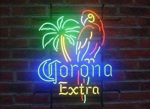 "17 ""x14"" Yeni Corona Extra Parrot Palm Tree Beer Bar Tavern Odası Dekor Neon Işık İşaret MAĞAZA EKRAN"