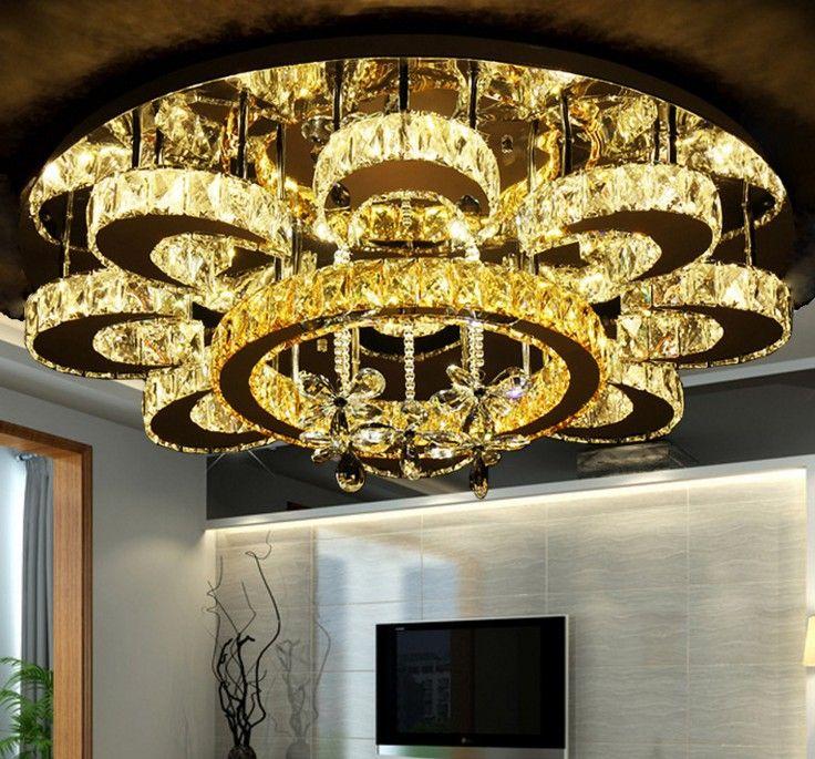 Lampadari di lusso a forma di fiore Lampadari di cristallo Plafoniere a sospensione Lustro soggiorno Lampade a LED Lampade a LED LLFA