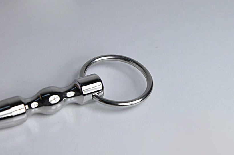 100mm PLUG URETRE Plug en acier inoxydable avec anneau urétralSounds # R172