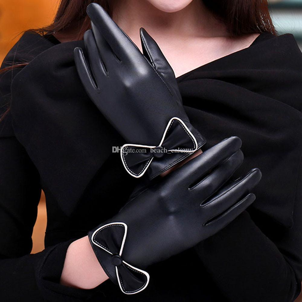 Womens leather gloves with touch screen fingers -  Size Free Applicable Gender Womens Applicable Age Adult Comfort Soft Washing Instructions 30 Degrees Water Temperature Low Temperature Ironing