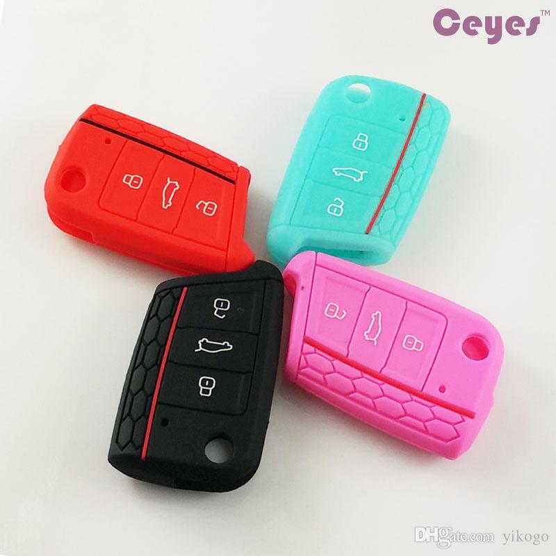 غطاء مفتاح السيارة لحالة جولف 7 gti 7 r r20 mk7 سكودا اوكتافيا a7 مفتاح قذيفة غطاء سيارة التصميم