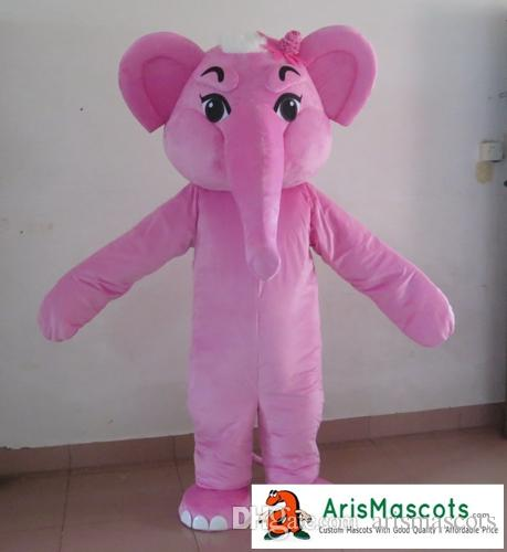 New Pink Elephant Mascot Costume Adult Size Fancy Dress