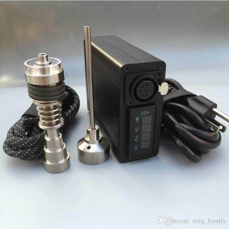 High quality Enail Electronic temperature controller box mini portable heater mini Dnail with 6 in 1 Titanium nai+Quartz dish Coil heater