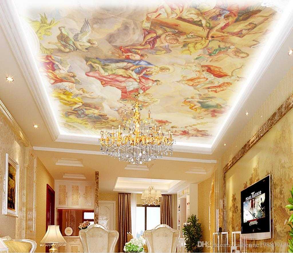 European Style Roof Painting Ceiling Ceiling Wallpaper Mural 3d Wallpaper 3d Wall Papers For Tv Backdrop Animated Wallpapers Animation Wallpaper From Catherine198809100 5 81 Dhgate Com