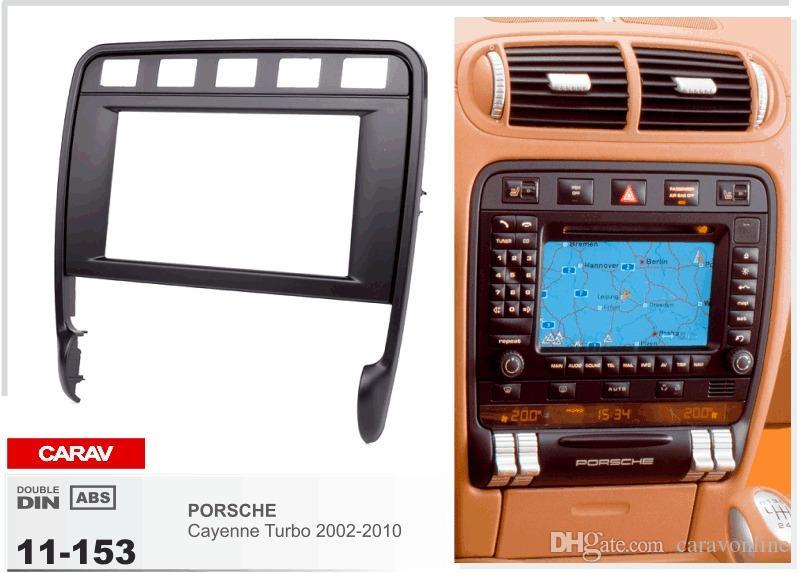 CARAV 11-153 سيارة radio install dash inquitting trim kit for PORSCHE Cayen Turbo 2002-2010 2-DIN