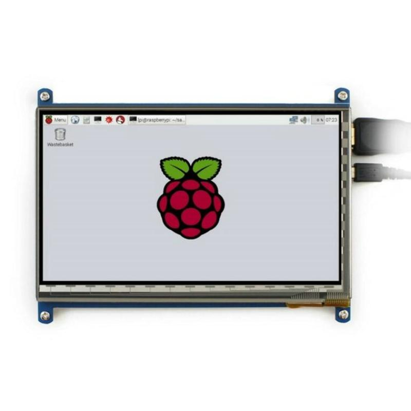 Freeshipping Raspberry Pi 3 7inch HDMI LCD Display Module with 1024*600 Capacitive Touch Screen for Raspberry Pi 2 BB Black Banana Pi/Pro