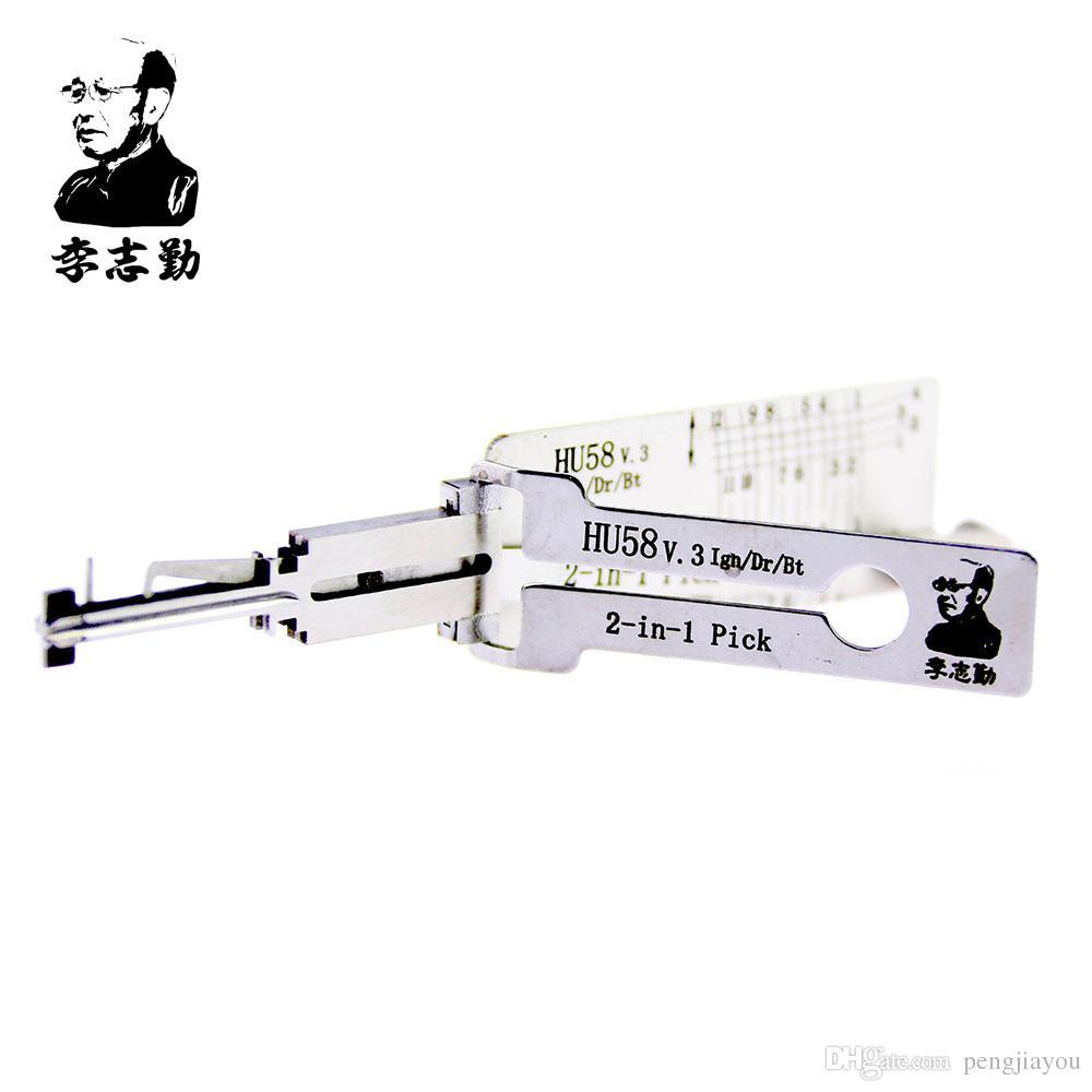Lishi HU58 2in1 Decoder and Pick for Morgan / Old BMW ، أدوات Lishi الأصلية 100٪ من Mr. Li Factory