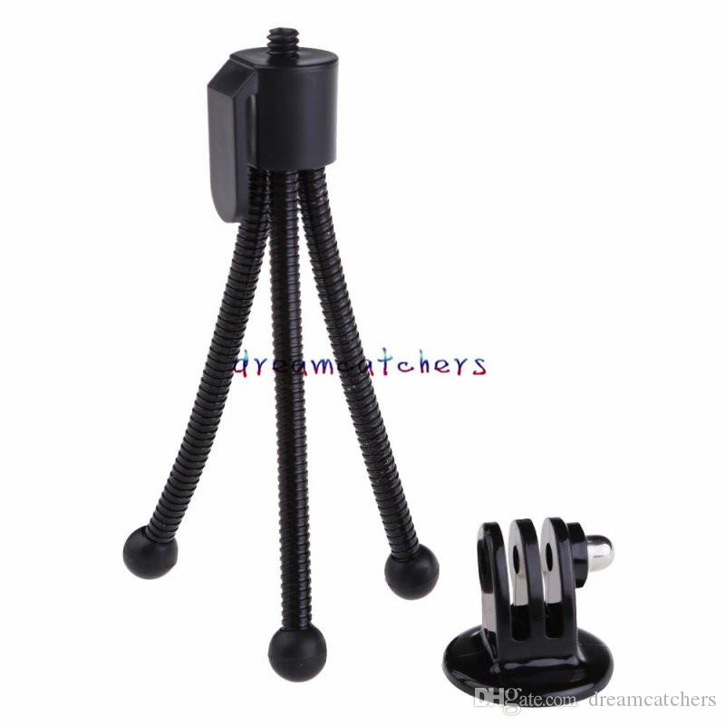 Mini Portable Adjustable Flexible Mount Bracke Stand Monopod Tripod Stand Holder for Digtal Camera for iphone Samsung Universal