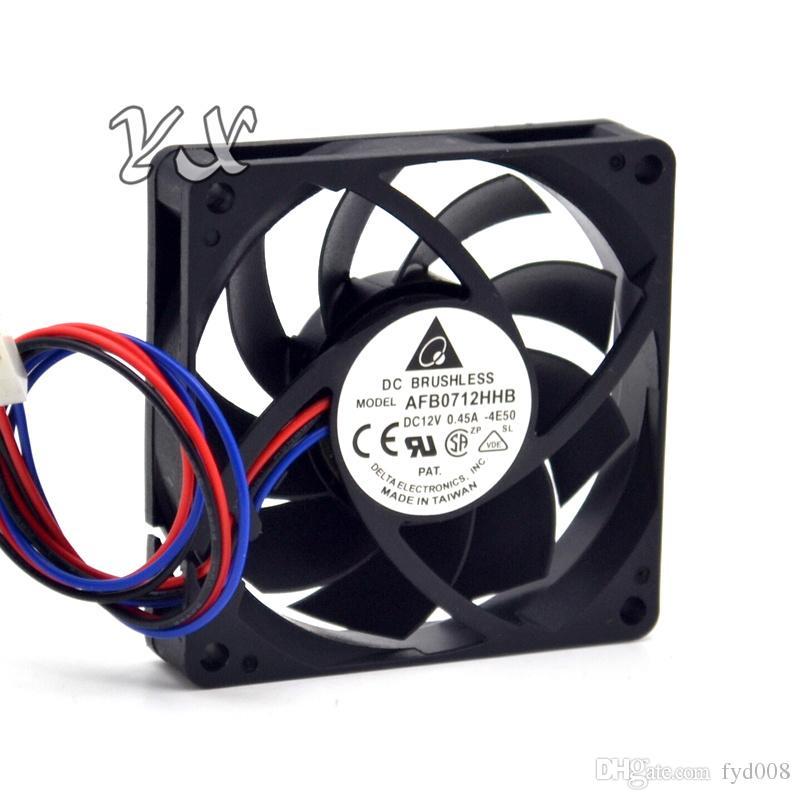 Nouveau AFB0712HHB 12V 7CM 7015 0.45A 3 fils double radiateur de ventilateur de radiateur pour Delta 70 * 70 * 15mm