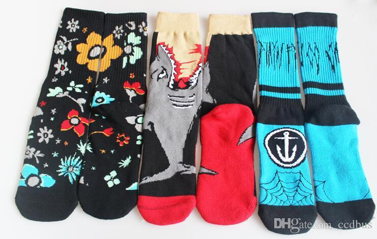 2018 Handnähen Absorbieren Schweiß Socken Sport Socken Hop Skateboard Socken Sportsocken 11