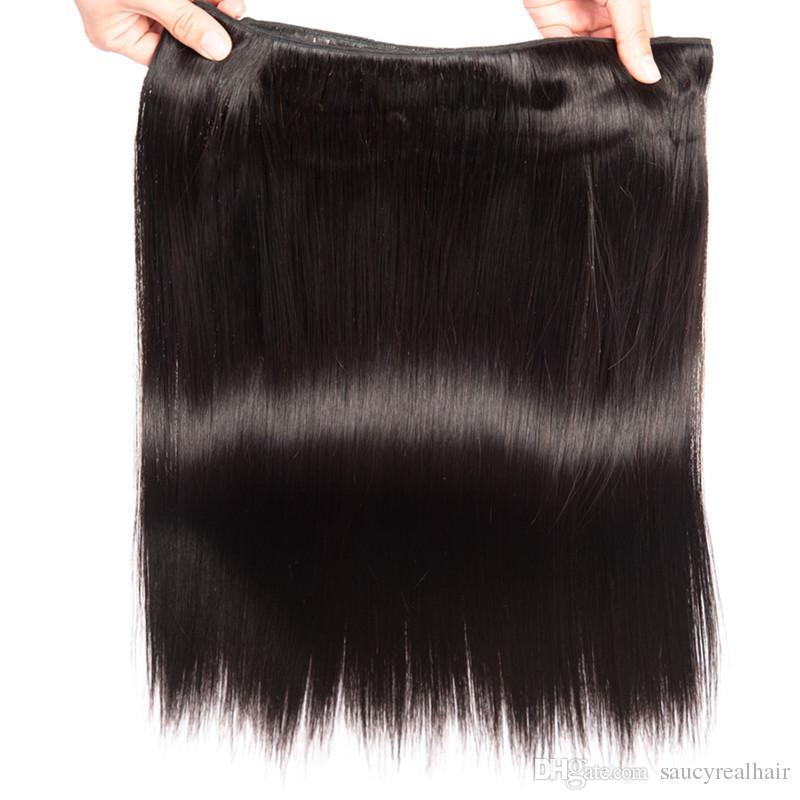 Klasse 6A - Gerade Welle Haar weben 50g / Bündel 4 Bundles, 100% remy menschliches Haar natürliche Farbe, frei verwickelfrei vergießen