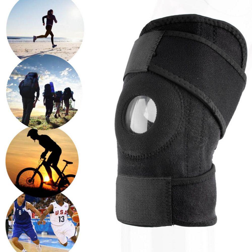 Großhandels- Männer Frauen 1pc justierbares Sport-Trainings-elastische Knie-Stützklammer Patella Knieschützer-Loch-Kniepolster-Sicherheitsschutz-Bügel-Schutz