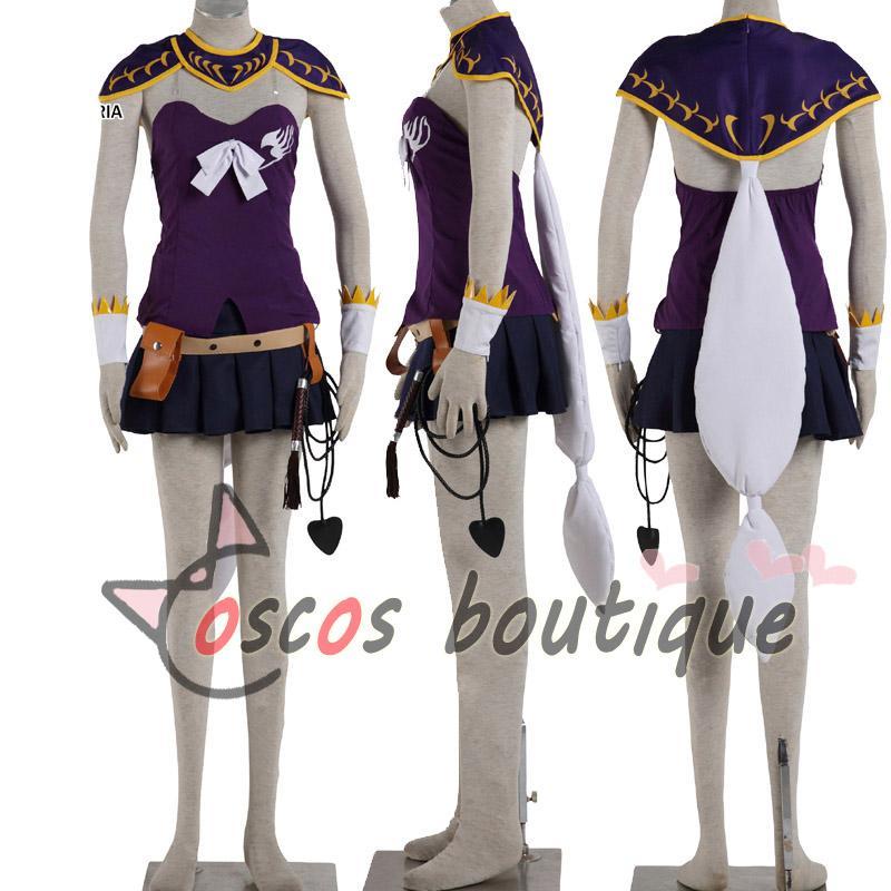 Fairy Tail Lucy Heartfilia Cosplay Costume Purple Dress Kenshin
